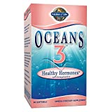 Garden of Life Oceans 3 Healthy Hormones - Strawberry, 525mg EPA, 350mg DHA + Botanicals - Menopause Hormonal Support for Women, Skin, Heart Health, Emotional Well-Being, 90 Softgels
