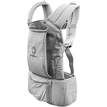 Babies and Toddlers Baby Wrap Carrier 6 and 1 Convertible Backpack Grey(Dark Grey) Cotton Sling for Infants