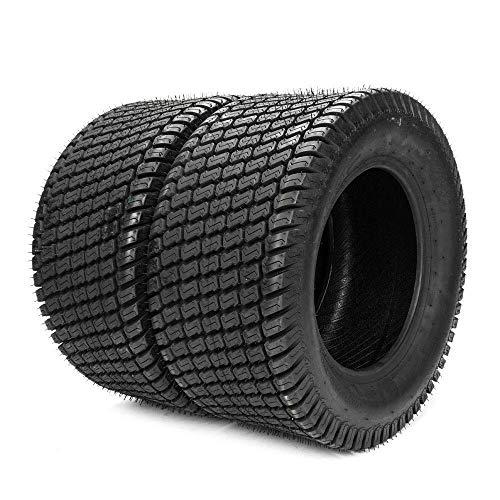 TRIBLE SIX Set of 2 24x12.00-12 Turf Tires 24 12 12 Lawn & Garden Mower Tractor Cart Tires 4Ply P332 Tubeless