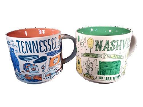 Starbucks Nashville and Tennessee Been There Serie Keramik-Kaffeebecher-Set 400 ml