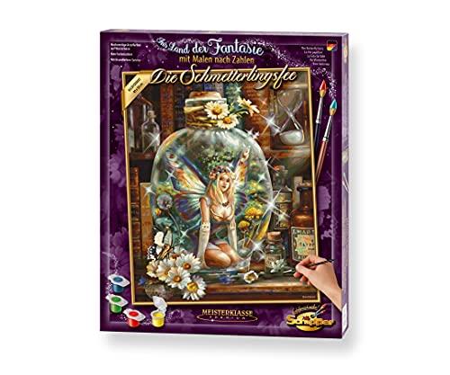 Schipper 609130843 Malen nach Zahlen, Die Schmetterlingsfee - Bilder malen für Erwachsene, inklusive Pinsel und Acrylfarben, 40 x 50 cm