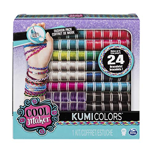 Cool Maker – KumiColors Jewels & Cools Fashion Pack, Makes Up to 24 Bracelets with the KumiKreator, for Ages 8 and Up