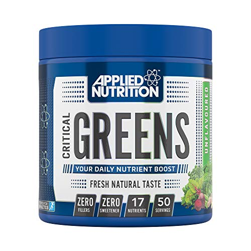 Applied Nutrition Critical Greens Powder - Boost your Immune System with 17 Vital Superfood Nutrients, Zero Fillers, Fresh Natural Super Greens Taste, Vegan Friendly 250g - 50 Servings