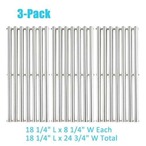 BBQ ration 3 Pack Stainless Steel Cooking Grid Replacement for Gas Grill Models Charbroil 463241313 and Charbroil 466241313(18.3125 x 24.9375 inch)