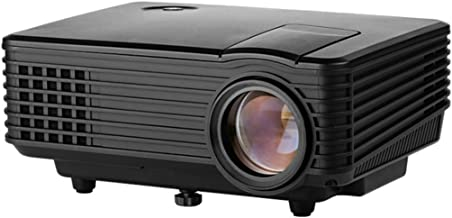 WGWG RD-805 HD LED Micro Projector Mini Home Home Theater Projector, Business Office Projector, Home Projector HD Home Intelligent Projector,Portable Video Projecto,Black