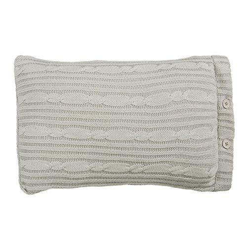 Riviera Maison - RM Winter Knit cushion grey 30x50
