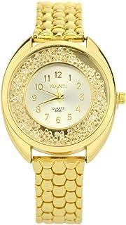 Amazon.com: Pengy Women Diamond Gold Watch Luxury Stainless Steel Watch Ladies Quartz Movement Wrist Watch: Watches