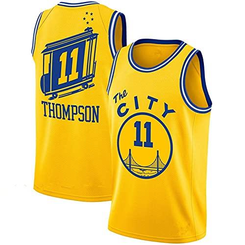 XFKL Jersey de Baloncesto de los Hombres NBA Golden State Warriors Klay Thompson 11 Jóvenes Entrenamiento Deportes Transpirable La Ropa Nueva,C,XXL