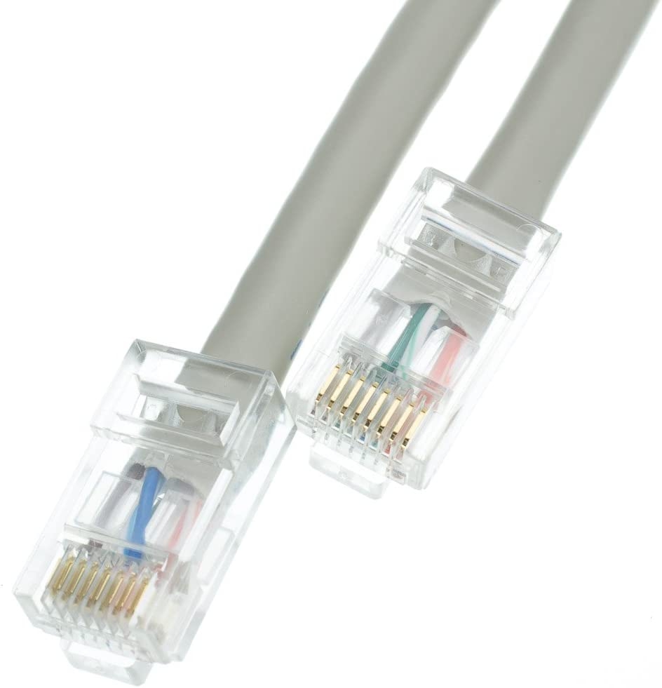 UTP 4 pair Stranded Bare Copper Bootless Unshielded Twisted Pair Internet Patch Cable 24AWG Network Cable with RJ45 Gold Plated Connector 100 foot Cat6 Black Ethernet Patch Cable CableWholesale