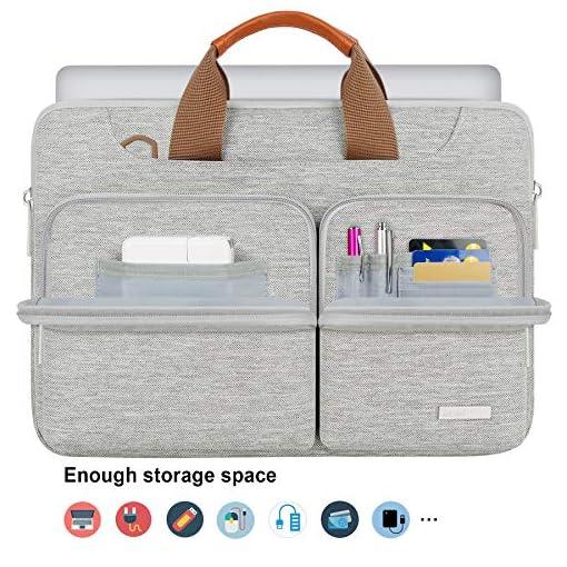 "Lacdo 13.3"" Funda para Portátiles Protectora de 360° para 13.3"" Old MacBook Air 2017-2010, 13.3"" Old MacBook Pro 2015-2012, 13.3"" Acer Chromebook, 13.9"" Huawei MateBook Bolsa de Ordenador, Gris 3"