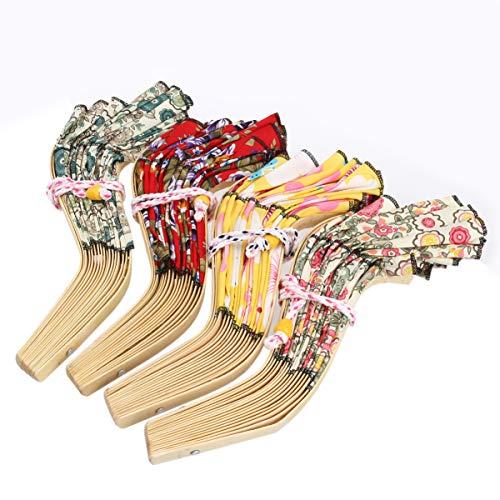 PRETYZOOM Sombrero para El Sol 2 en 1 Portátil Plegable Estilo Chino Marco de Bambú con Estampado Floral Ventilador de Mano Sombrero para El Sol para Mujer (Color Aleatorio)