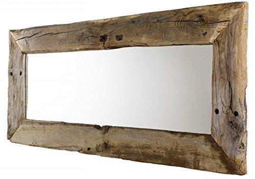*5.5.4.6.7.2572: Unikat – Spiegel aus Eiche Altholz – 180cm breit – Wandspiegel – Wohnzimmerspiegel – mit Trocknungsrissen*