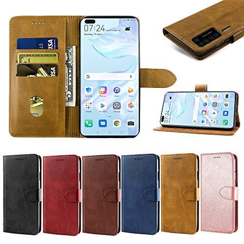 EASYCOB Hülle für Huawei P40 Pro Hülle, Premium Handyhülle Tasche Leder Flip Case Brieftasche Magnetischen Etui Schutzhülle für Huawei P40 Pro, Schwarz - 6