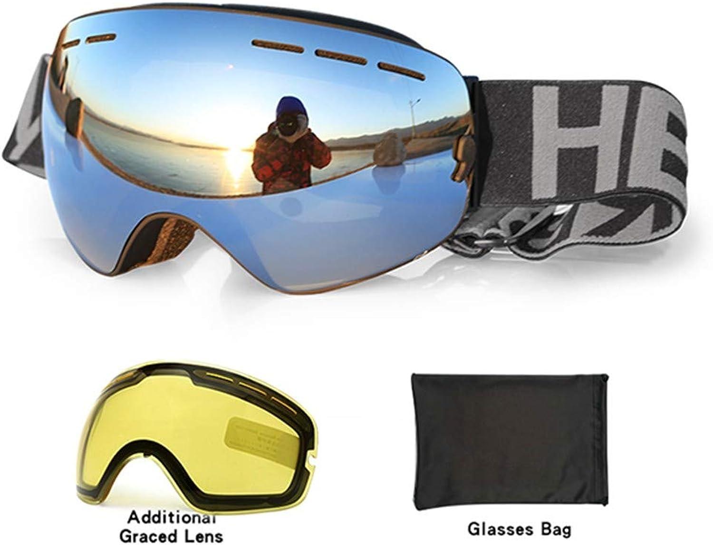 SKDJ New Ski Goggles Double Uv400 Anti-Fog Big Ski Mask Glasses Skiing Men Women Snow Snowboard Goggles