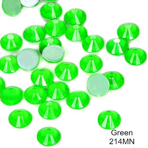 Meilleure Qualité Coloré Néon Strass Noctilucent Électrique Non Hotfix Néon Strass Nail Art Décorations F0170, Vert, SS30-288 pcs
