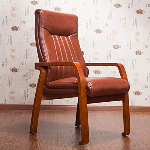 ZSAIMD Presidente del Ministerio del Interior de escritorio ergonómica silla de cuero Silla de ordenador soporte lumbar ajustable moderna Ejecutivo del balanceo giratorio silla de trabajo cómodo hogar