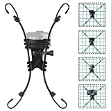 Net/Chain Link Fence Mount Compatible with GoPro Action Cameras and One X2,Smart Phones ,Mevo Start, and Other Action Cameras for Softball, Baseball, Football Games Recording