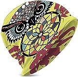 Casco Liner Sports Skull Cap Sombrero para Exteriores Owl Adornado detallado con Dream Catche CAP-3867