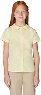 French Toast Girls' Short Sleeve Peter Pan Collar Blouse