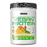 Weider Vegan Protein, Sabor Mango-Matcha, Proteína 100% vegetal de guisantes (PISANE) y arroz, Sin gluten, Sin lactosa, Sin aceite de palma (750 g)