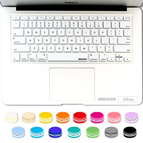 iBenzer MKC01WH Macaron Series Cover for MacBook Pro 13'/15'/17' with or without Retina Display and IMAC Wireless Keyboard, White