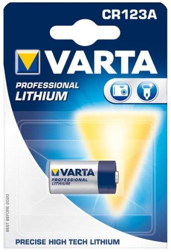VARTA fotobatterie lithium cR123A de 3.0 v/1600 mAh
