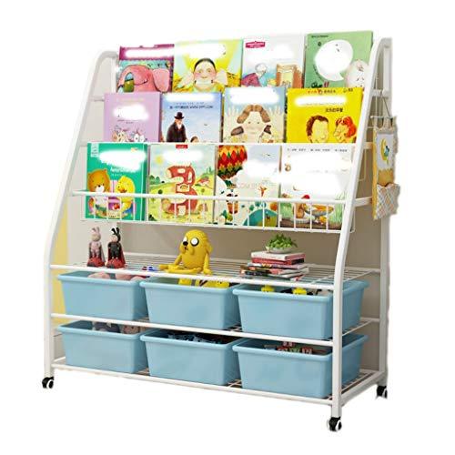 Niños de juguete Y Libro del organizador del almacenaje, Toy Box Organizador con las ruedas, habitaciones de estante for los niños, multipropósito, decoración casera, regalos de cumpleaños for los niñ