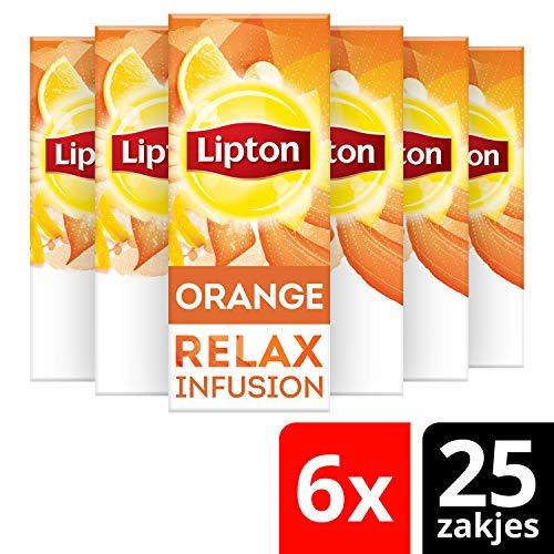 Lipton Sinaasappel, Kaneel & Spice Thee 6 x 25 zakjes Voordeelverpakking