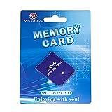 WICAREYO Tarjeta de Memoria de 64M Memory Card con Paquete para Consola Wii NGC Gamecube, Púrpura