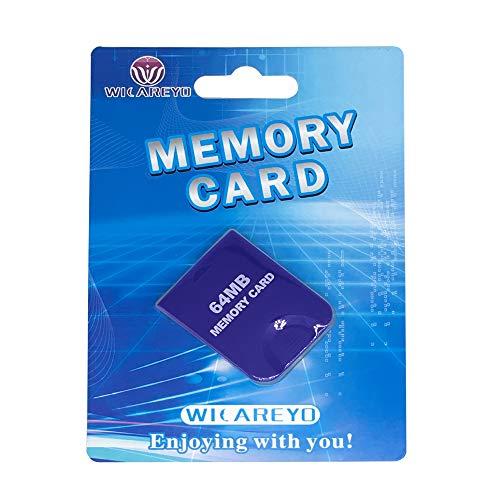 WICAREYO 64M Speicherkarte Memory Card mit Paket Für Wii NGC Gamecube Konsole,Lila