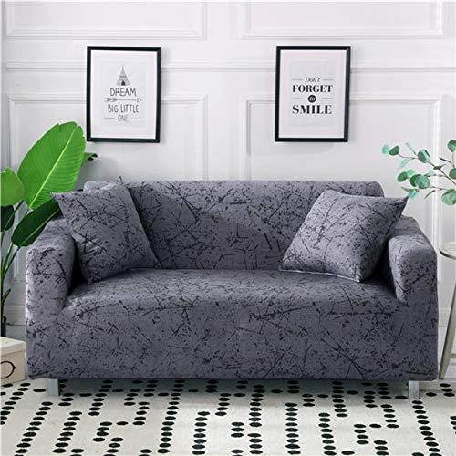 Funda elástica para sofá, Funda de sofá en Forma de L elástica, Funda de sofá seccional para Muebles de Sala, sillones, A4, 3 plazas