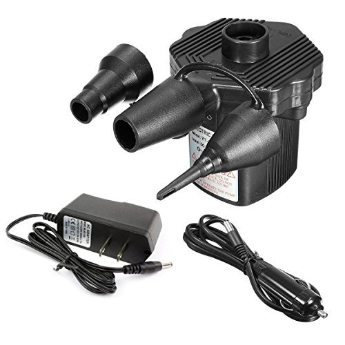 Portable DC Electric Air Pump laucin InflatorDeflator Electric Pumps - Vacuum Compression Bags Suction Pump-110V AC12V DC-Perfect for Using Outdoor and Indoor