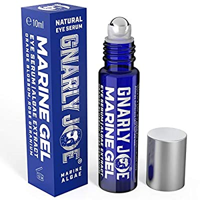 Gnarly Joe Eye Serum for Men. Hyaluronic Gel with Cooling Rollerball Applicator. Rejuvenates Tired Eyes, Puffiness and Dark Circles, 10 ml from Gnarly Joe