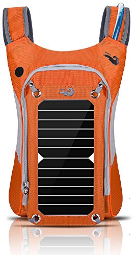 HOWO Outdoor Pack Commputer Solar Powered Backpack (Orange)