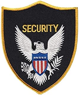 2 Pack - Security Guard, Officer Shoulder Patch, American Eagle, Embroidered