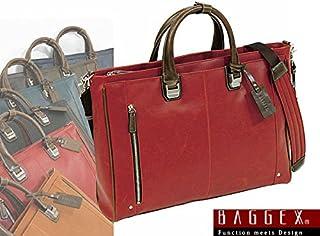 ウノフク BAGGEX TREASURE バジェックス トレジャー 2way ビジネス トート ブリーフケース ショルダーバッグ ノートPC対応 レッド 23-5534-30