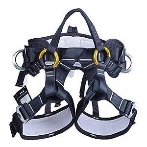 WILDKEN Arneses Escalada en Roca Cinturón de Seguridad Amplia al Aire Libre de Rappel Arnés Ajustable de Rescate del Asiento Sentado Profesional (Medio-Cuerpo)