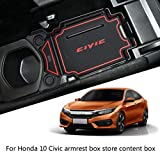 Centurrie Reemplazo para Honda Civic 10 de Gen 2016-2018 Apoyabrazos Bandeja de la Caja del teléfono Organizador Monedas almacenaje de la Carpeta Plataforma de la Caja Insertar