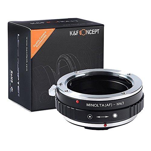 K&F Concept Adaptador para Montar Lentes Minolta(AF)a cuerpos de cámara Micro Cuatro Tercios (M4/3)