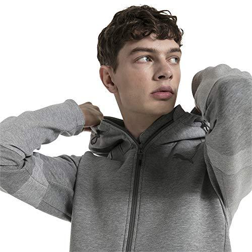 PUMA Herren Evostripe Move Hooded Jacket Sweatjacke, Medium Gray Heather, L