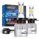 VoRock8 R2 COB H4 HB2 9003 8000 Lumens Led Head Iight Conversion Kit, High Low Beam Bulbs, Dual Beam Bulbs, Replace Halogen Bulbs,for Motorbikes and Cars,6500K Xenon White, 1 Pair