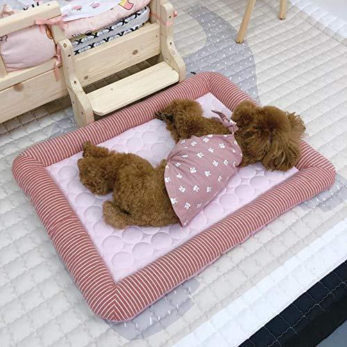 KK Timo Alfombrilla de seda para nido de hielo, tamaño pequeño y mediano, multifuncional, para mascotas, nido, perro, gato, hielo, seda, rosa, 76 x 58 cm