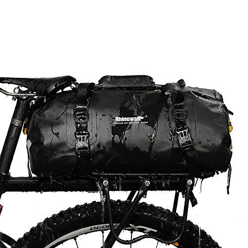 Asvert Fahrradtasche Gepäckträger Tasche Multifunktionale Fitness-Reisetasche wasserdichte Gepäckträgertasche Fahrrad Hinterradtasche 20L (Schwarz)