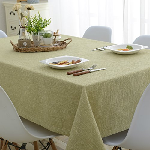 (Green) - Mrs Sleep Cotton Linen Tablecloth Pure Colour Tablecloth For Kitchen Rectangular Tablecloth Stain Dust Proof Cloth Decorative Table Cloth 130 180cm(green)