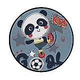 CHEHONG Chenhong Teppich Panda Spielteppich Fußball