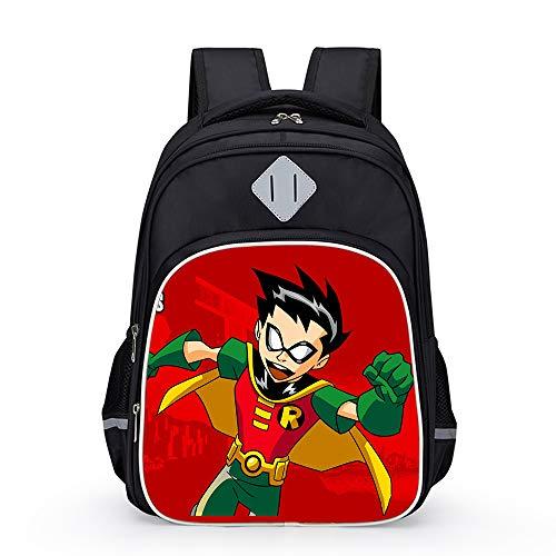Teen Titans Go Bolsa de Viaje Mochila Escolar Mochila Mochila Impreso Historieta Popular de los Niños Niños (Color : A13, Size : 31 X 20 X 42cm)