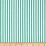 Cotton Lawn Stripe Green, Fabric by the Yard