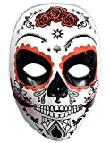 Rubies- Mascara calavera Katrina con rosas Día de los Muertos, Talla única (Rubie's...