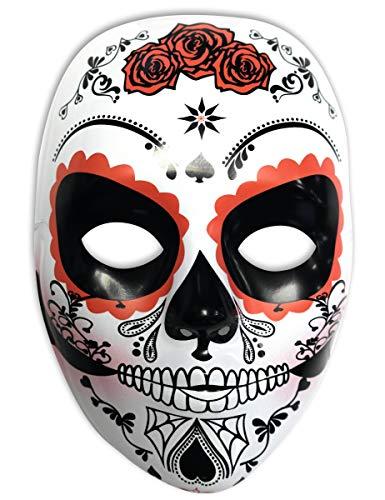 Rubies- Mascara calavera Katrina con rosas Día de los Muertos, Talla única (Rubie