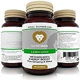 Lean Lion Premium de ManeMan - Suplementos de primera calidad para aumentar la energía • Quema de grasa • Pérdida de peso natural • Pastillas para adelgazar • Suplemento natural • 60 cápsulas • Fabric
